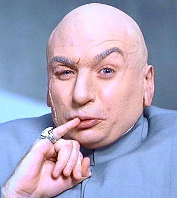 B) Quizzical, Asymmetrical Brow (Dr. Evil)