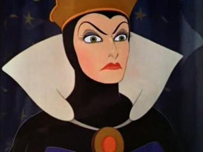 A) Evil, Arched Brow (Evil Queen)