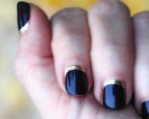 B. Half moon nail art